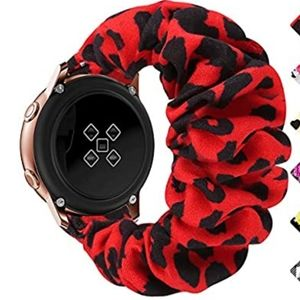 Scrunchie Watch Band red/black leopard BAND ONLY!